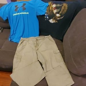 MENS WORK CLOTHES LOT **USED CONDITION**